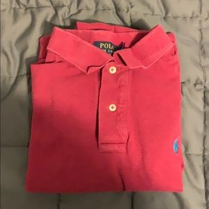 Polo Ralph Lauren Men's Large Cranberry S/S Shirt